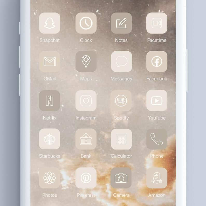 Available in 3 colors green, beige and pink. Neutral Tone 300 Aesthetic Custom App icons pack iPhone ...