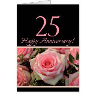 Happy 25th Anniversary Greeting Cards Happy 25th Anniversary Wedding Anniversary Greetings Wedding Anniversary Invitations