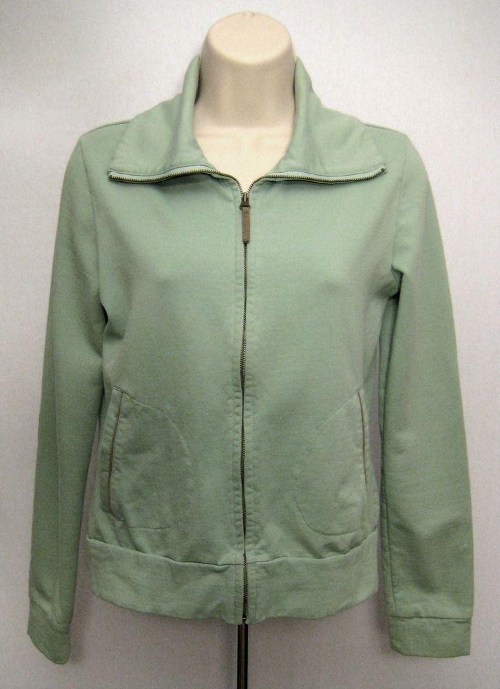 db3d8723ab Ann Taylor Loft Track Jacket Size S Green Full Zip Long Sleeve Elbow Pad  Sweats  AnnTaylorLOFT  TrackJacket