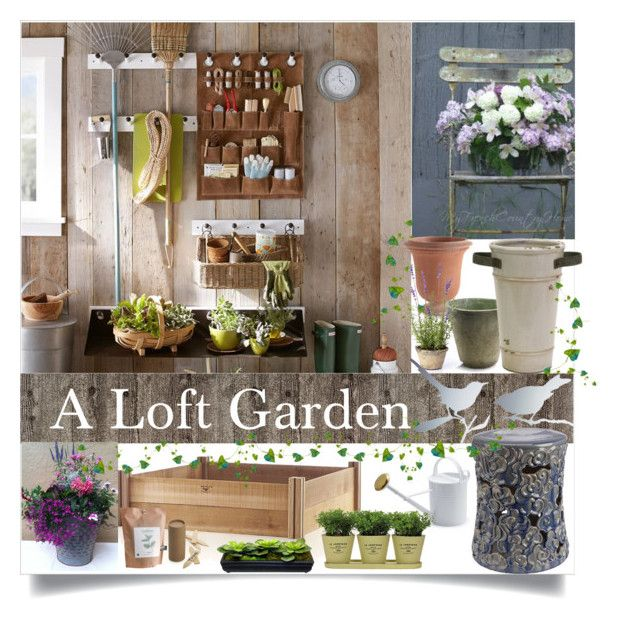 """""""A Loft Garden"""" by loveartrecyclekardstock ❤ liked on Polyvore"""