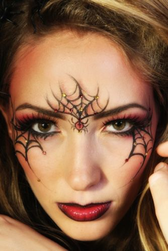 beautiful woman with spiderweb make up for more of my. Black Bedroom Furniture Sets. Home Design Ideas