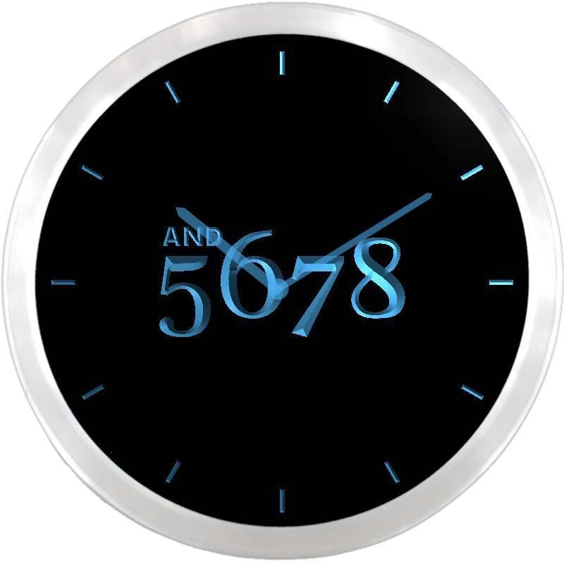 Nc0710 B And 5678 Dancer Dance Time Neon Sign Led Wall Clock Advproclock Led Wall Clock Neon Signs Clock