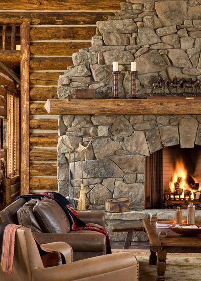 Rustic Living Room Fireplace | Home Ideas | Pinterest | Schöne Wohnzimmer,  Holzkunst Und Holzarbeiten