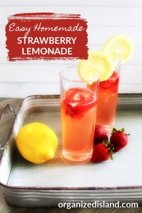 Easy Homemade Strawberry Lemonade -