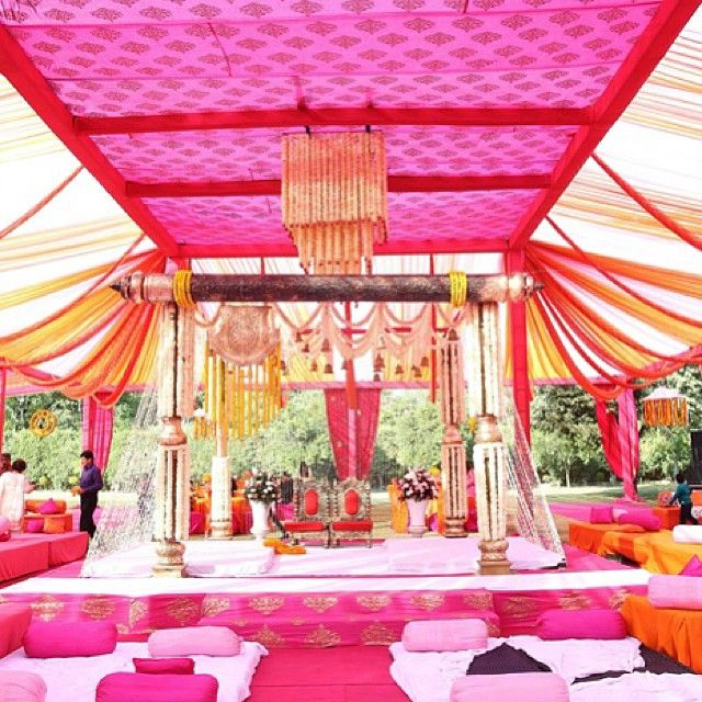 Rani pink always works for an outdoor wedding indianwedding rani pink always works for an outdoor wedding indianwedding junglespirit Gallery