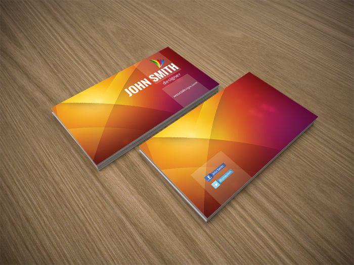 Multi Colour Business Card Business Card Template Free Business Cards Business Card Design