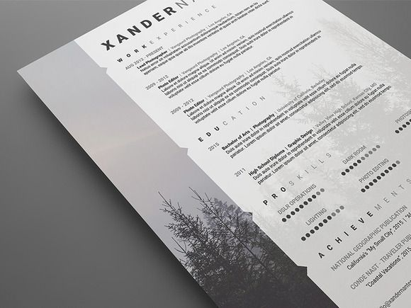 Photographer Resume  Psd Template  Psd Templates Template And