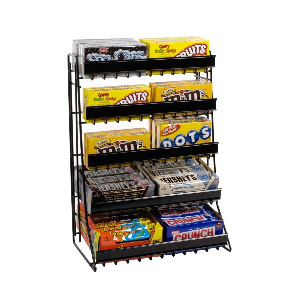 Theater Room Snack Bar: Candy Display, Retail Shelving