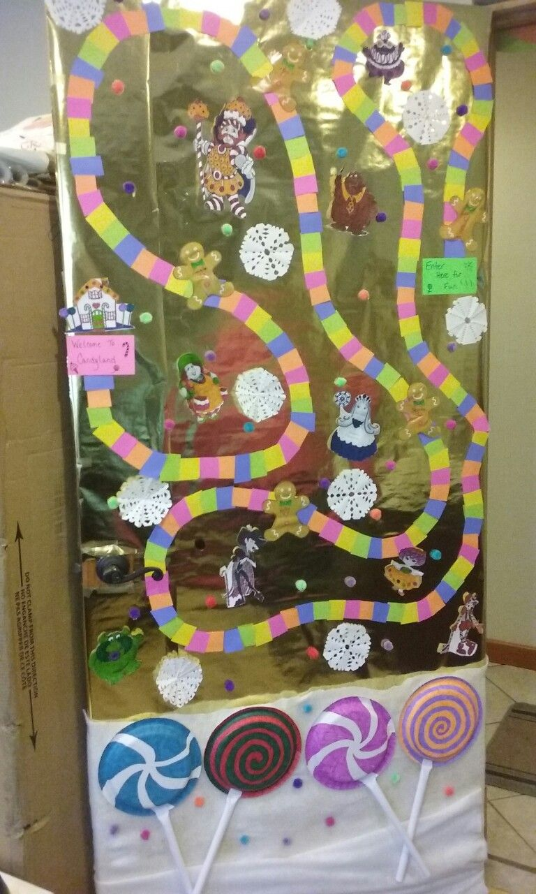 Door Decorating Contest In The Office Candy Land Board