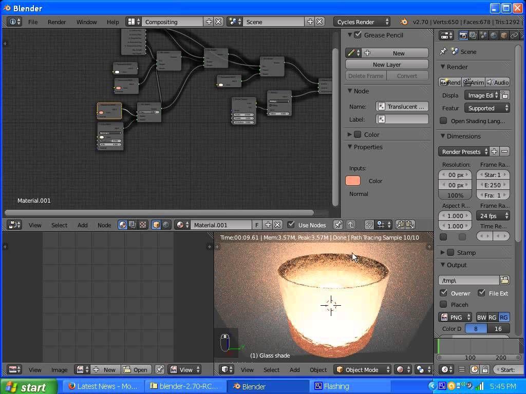 Blender Cycles Light Render Layer : Ash