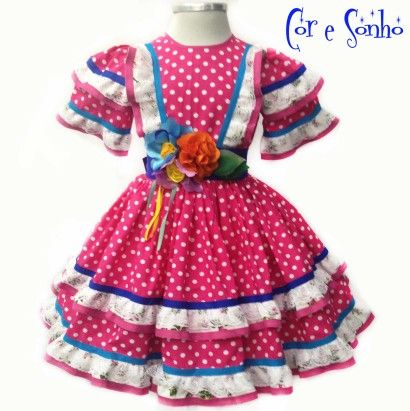 Vestido estampado para festa junina