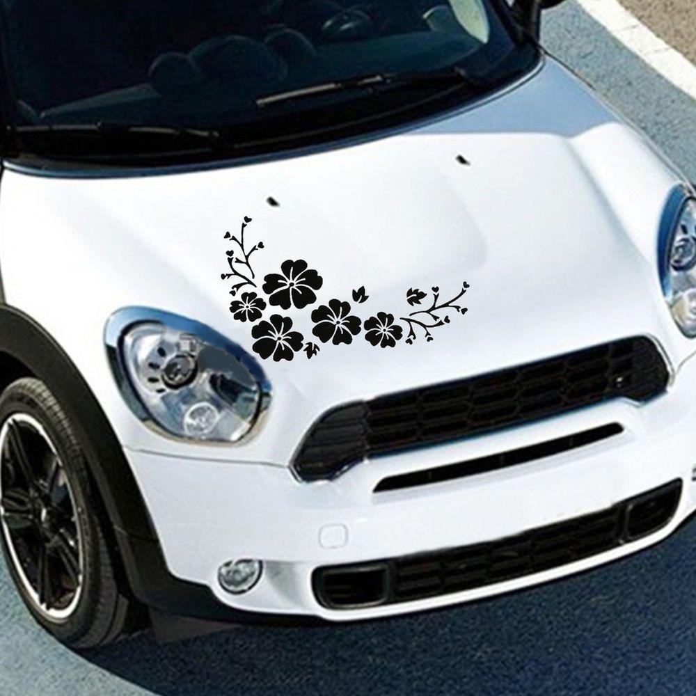 Close Up View Of Detailed Cut Vinyl Car Graphics For Mini Cooper - Custom vinyl car hood decalscar side and hood decal custom body vinyl sticker urban geometric