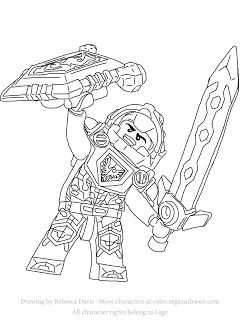 Clay from Lego Nexo Knights - Free Coloring Page