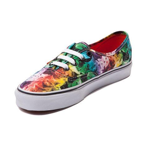 Vans x ASPCA Authentic Rainbow Kitty Skate Shoe, Multi | Journeys Shoes