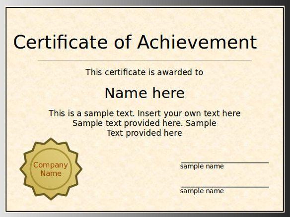 Powerpoint Award Certificate Template Awards Certificates Template Certificate Of Participation Template Certificate Templates