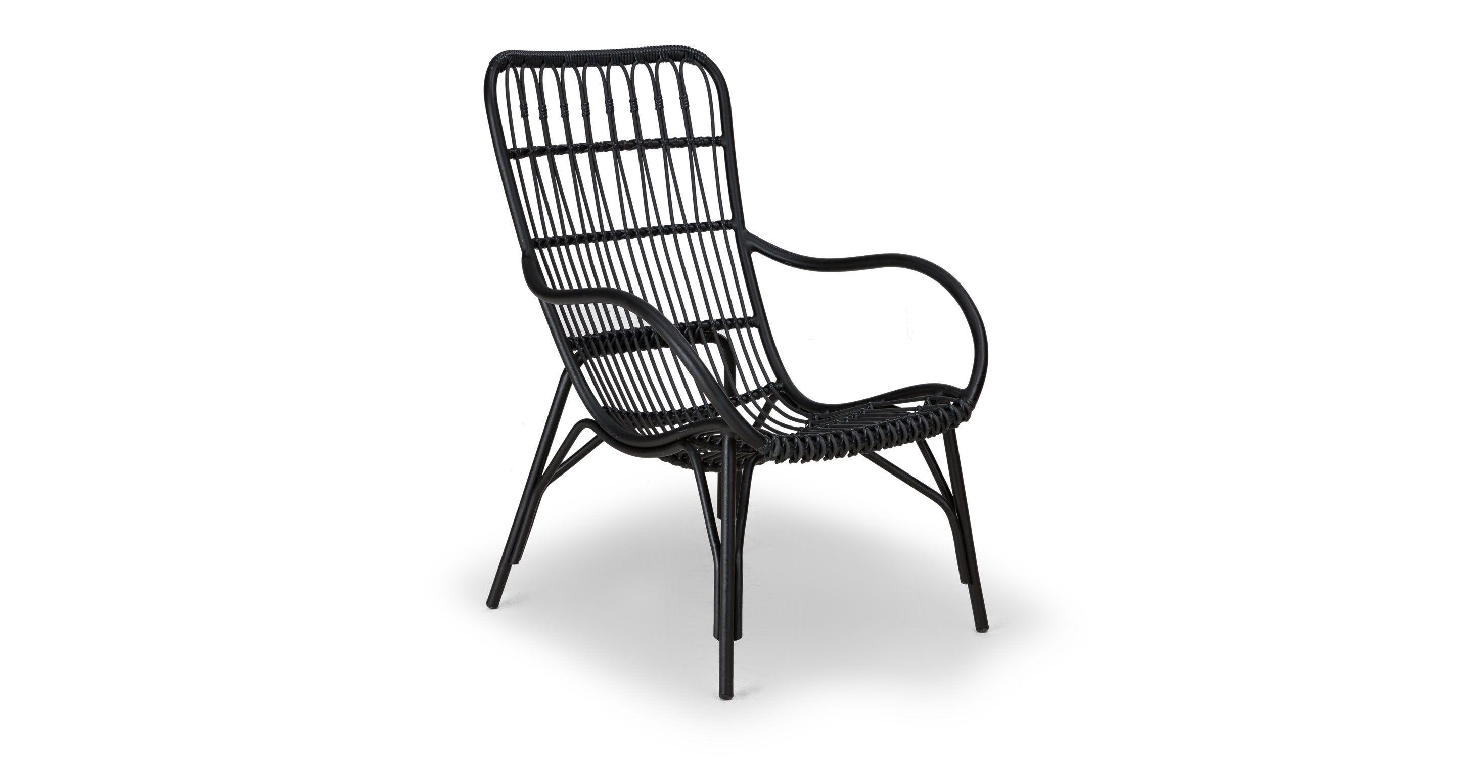Medan Graphite Lounge Chair Lounge Chair Outdoor Modern Outdoor Lounge Chair Contemporary Outdoor Furniture