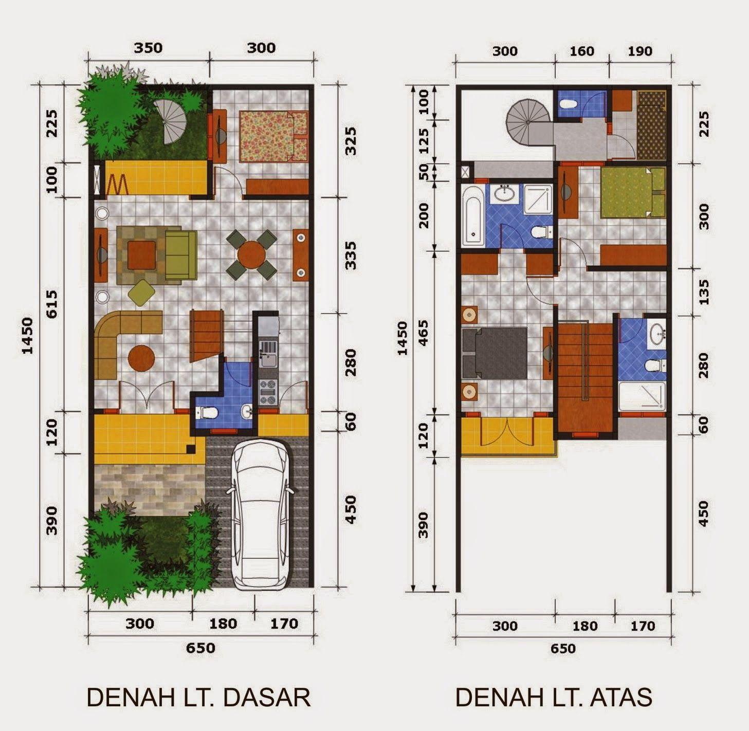Desain Rumah Minimalis 2 Lantai Ukuran 6X15 Jual Sewa Rumah