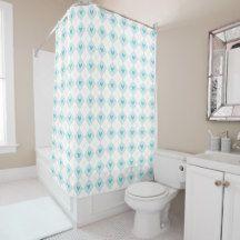 Lovely Argyle Shower Curtain