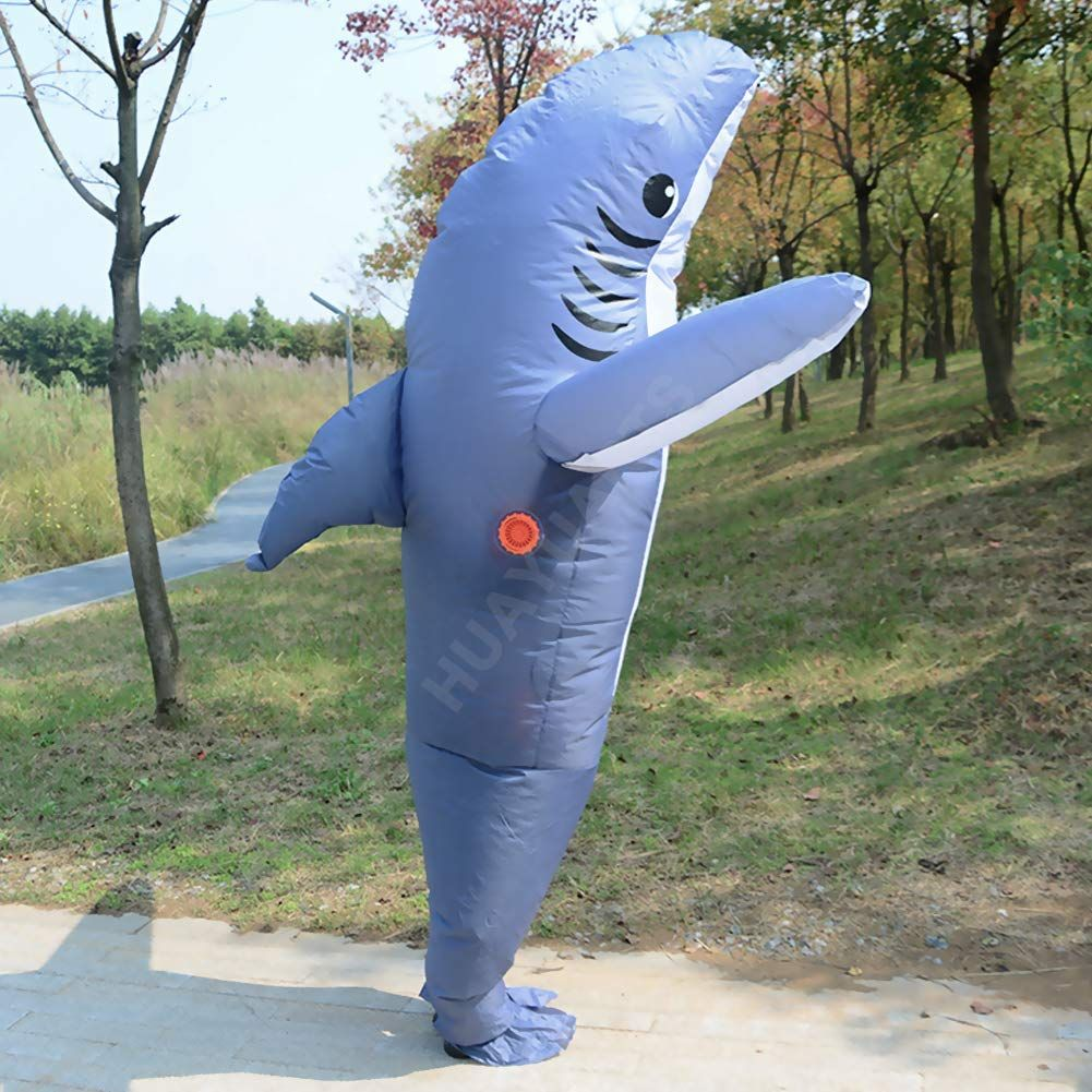 HUAYUARTS Inflatable Costume Blow up Costume Blue Shark Game Fancy Dress Cosplay