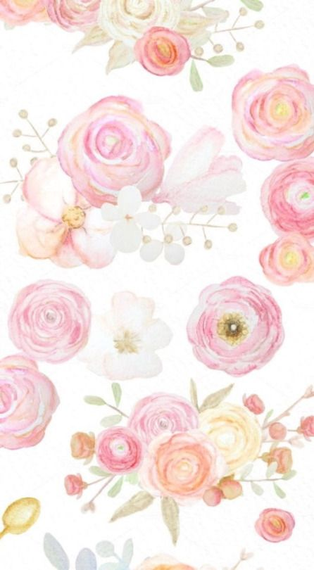 Pastel Watercolour Floral Wallpaper Floral Watercolor