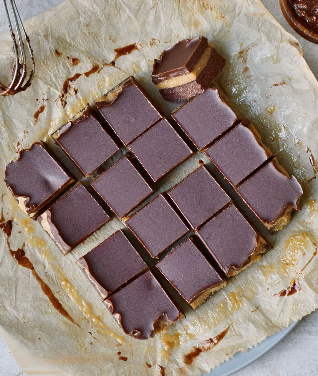 No Bake Caramel Chocolate Brownies Which Will Melt In Your Mouth