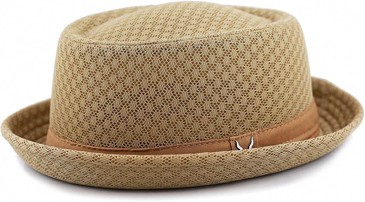 5f057da3060 ( Ad) THE HAT DEPOT Light Weight Classic Soft Cool Mesh Porkpie Hat (L XL