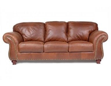 Sofa BedSleeper Sofa Colorado Leather Furniture Collection with nail heads