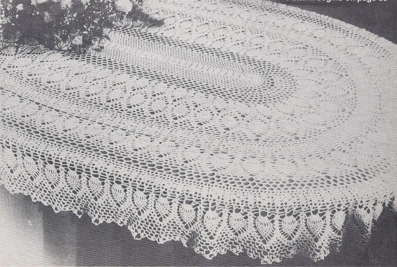 Oval Pineapple Tablecloth Pattern Free Rarevhtfoval Pineapple