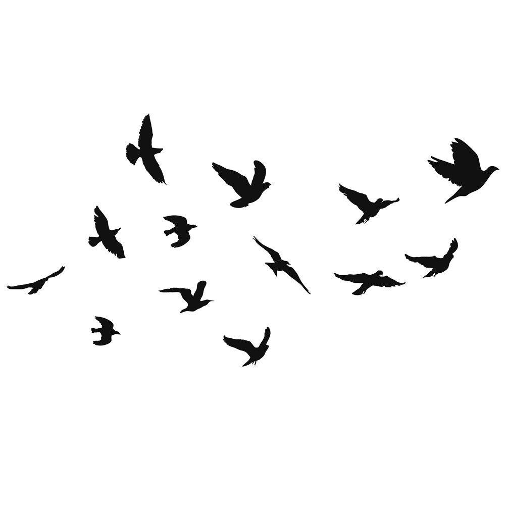 Passaros Voando Tumblr Pesquisa Google Quadros Preto E Branco