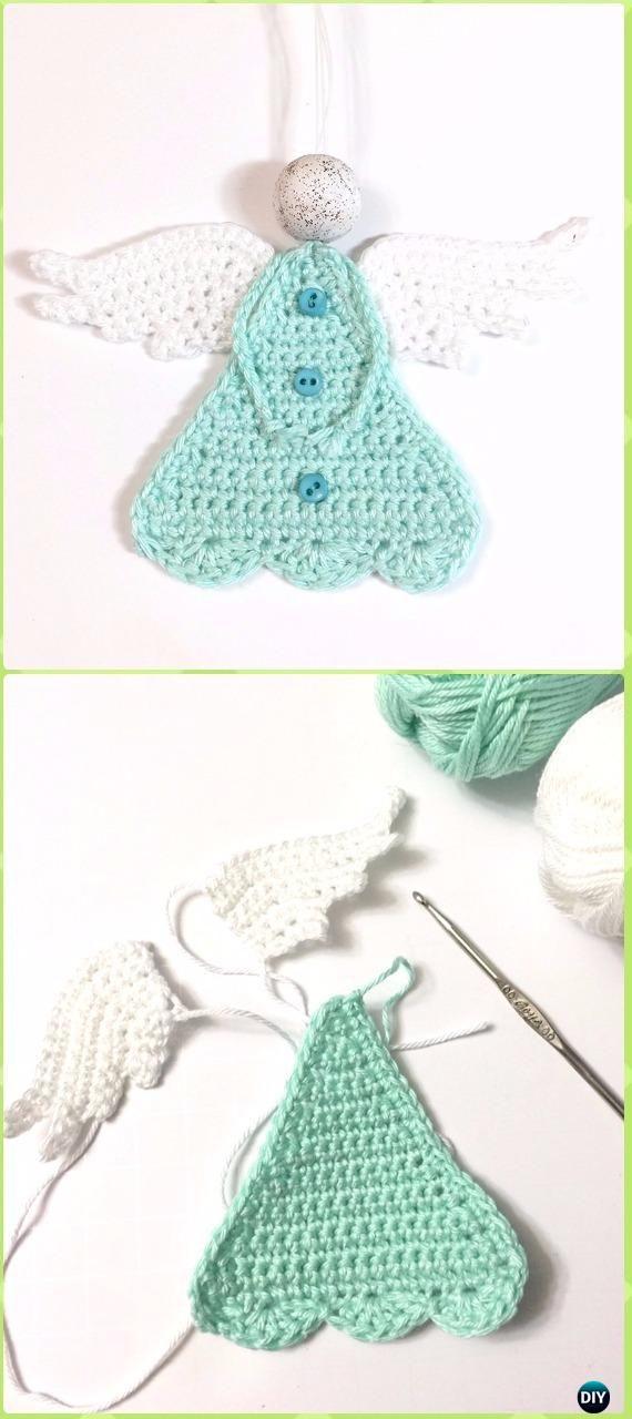 Crochet Beautiful Crochet Triangle Angel Free Pattern - Crochet ...