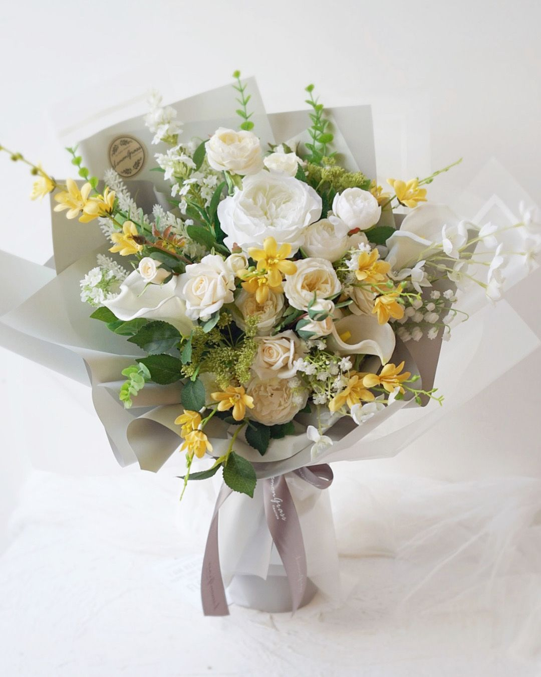 Pin on Silk Flower Gift Bouquet