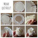 Wonderful DIY Super Easy Lace Flower | WonderfulDIY