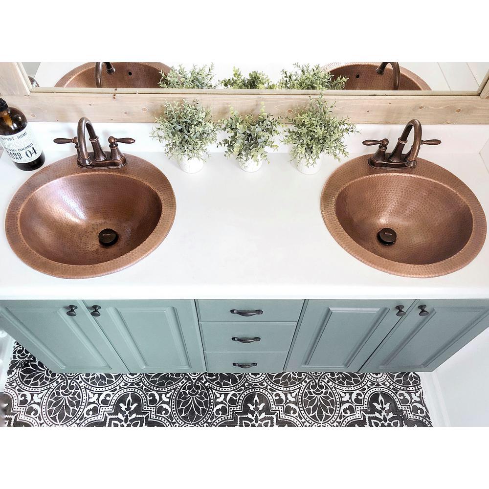 Sinkology Bell Drop In Handmade Copper Bathroom Sink With 4 In