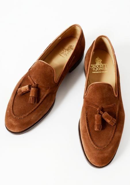 Rakuten Global Market: &JONES CROCKETT (Davy Crockett & Jones)  CAVENDISH-26X tassel loafer suede ポロブラウン
