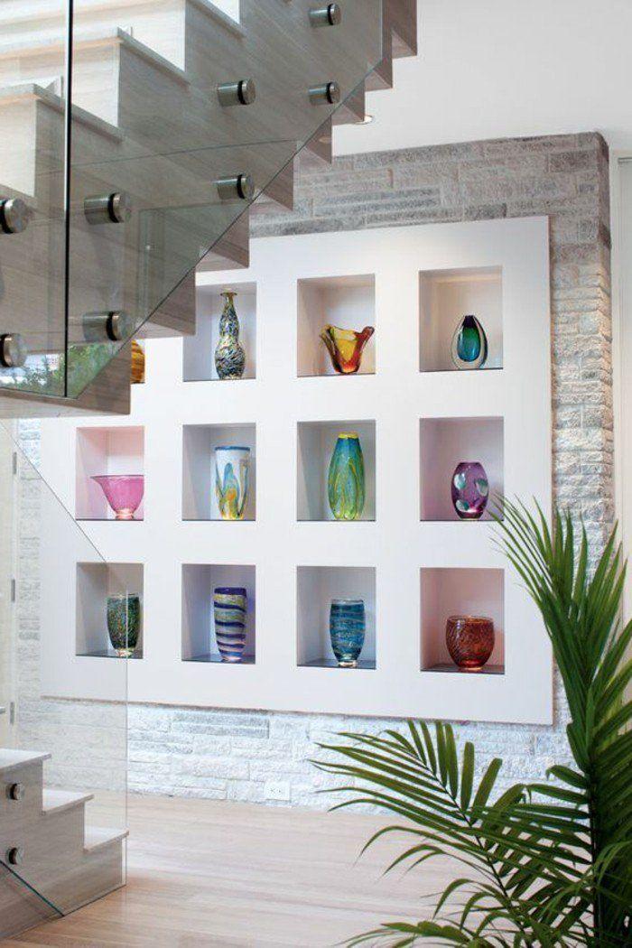▷ 1001+ idées comment décorer vos intérieurs avec une niche murale - escalier interieur de villa