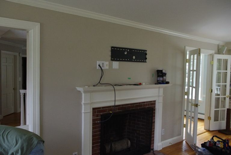 Wall Mount Tv Over Fireplace Hiding Wires Do You Think