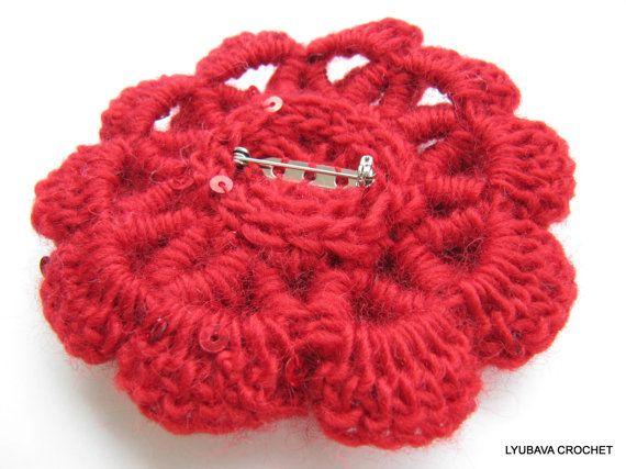 Crochet PATTERN Crochet Brooch Tutorial by LyubavaCrochet