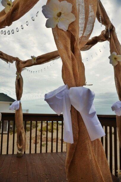 Beach wedding arbor