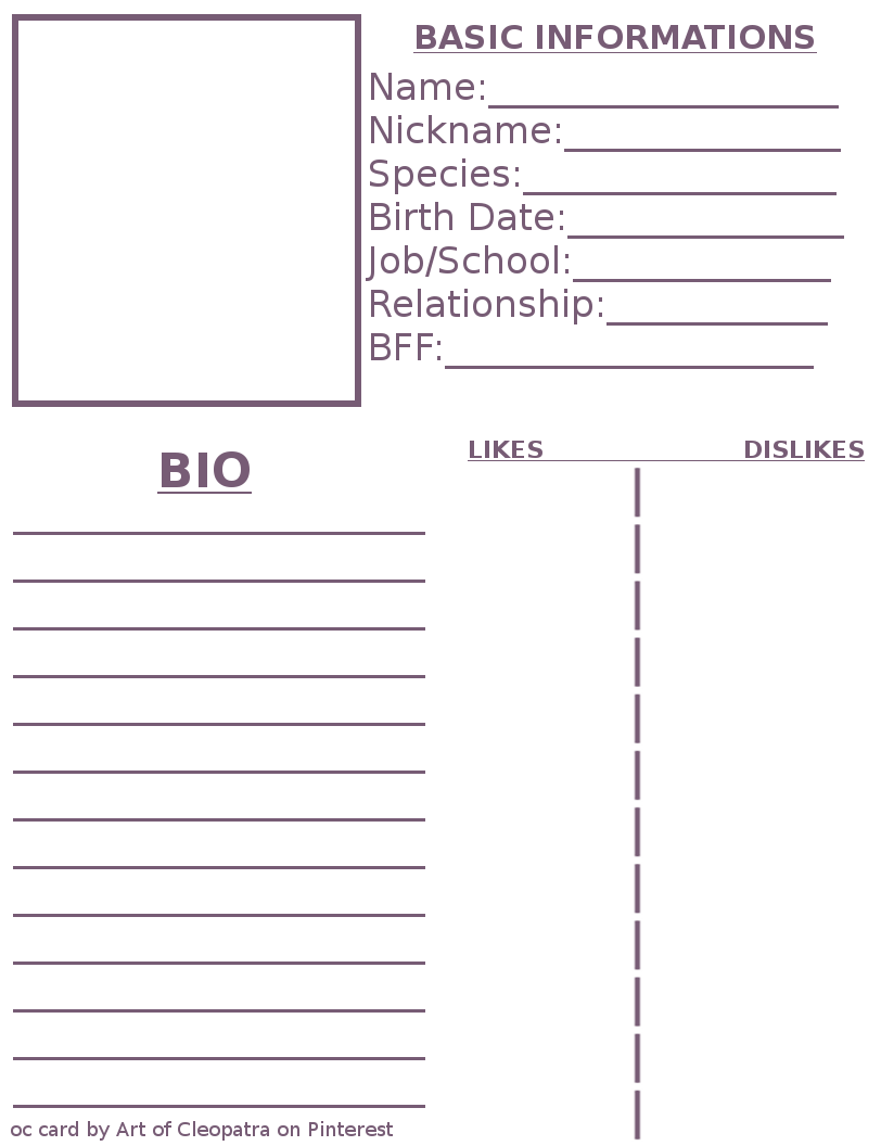 Pin By Dana Keyko On A R T Character Reference Sheet Character Sheet Template Character Sheet
