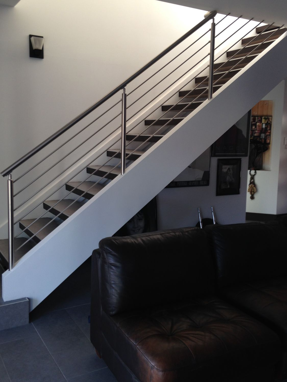 August Residence · Glass StairsModern StairsRailingsHouston ...