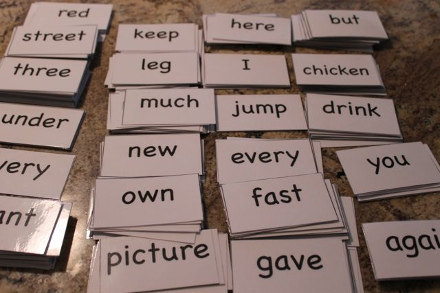 free sight words flash cards