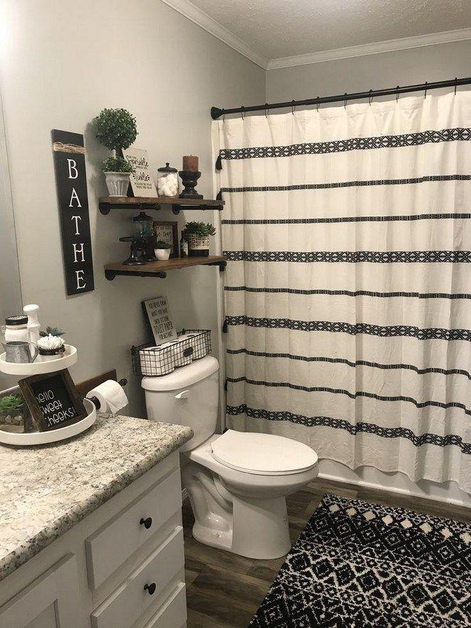 Photo of Guter Bildschirm kleiner rustikaler Badezimmerstil Eine Art rustikales Badezimmer ist oft …