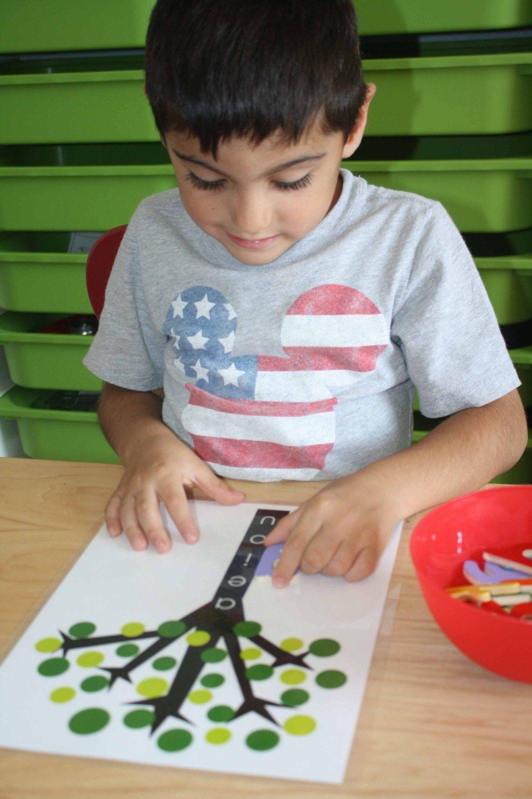 Montessori Vowel Tree