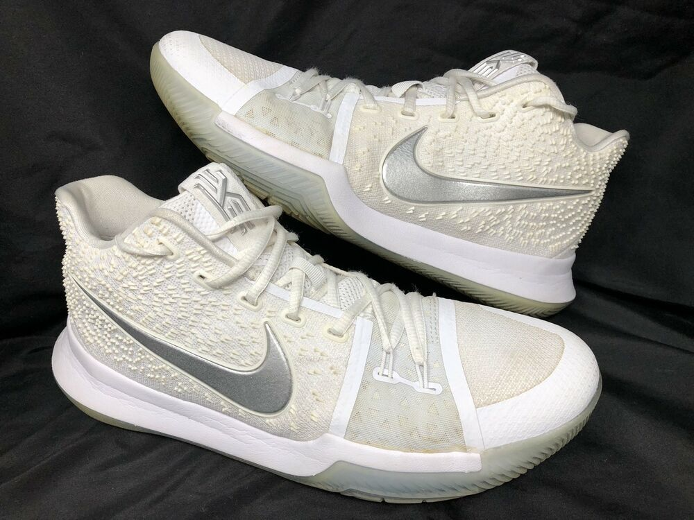 227085e8349f Nike Kyrie 3 III Triple White Chrome Ice 852395-103 Size 10 Basketball Shoe   Nike  BasketballShoes