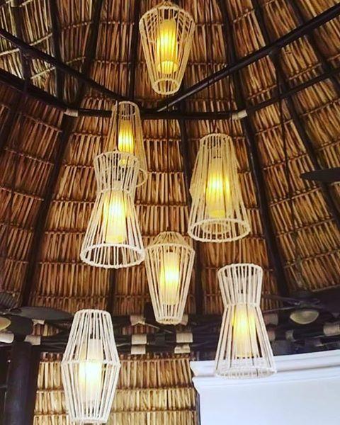 handmade lighting design. Indonesian Inspired Handwoven Lamps. Beach House, Guatemala. #guatemala # Handmade #lighting Lighting Design N