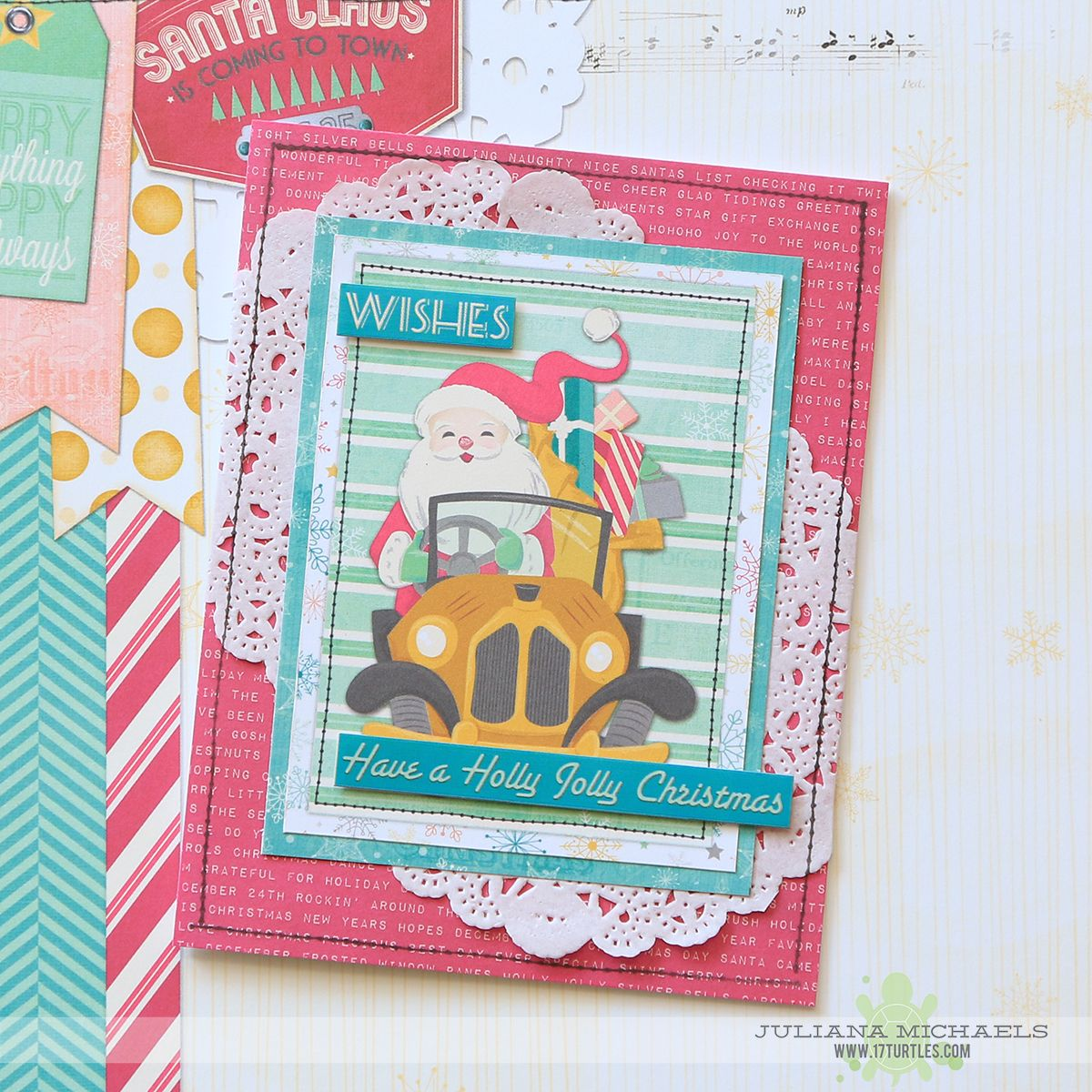 17turtles Christmas Cards with BoBunny Candy Cane Lane