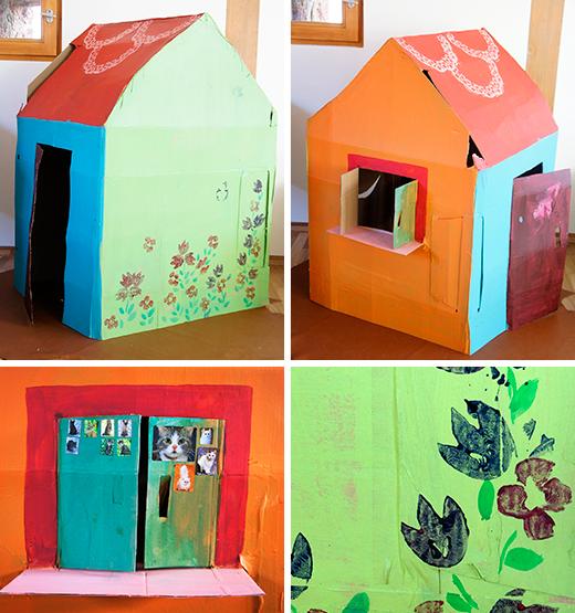 kinderhaus aus pappe bastelideen spielh uschen aus. Black Bedroom Furniture Sets. Home Design Ideas