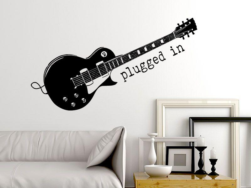 Wandtattoo E Gitarre Plugged In Wandtattoo Wandtattoo Musik Und