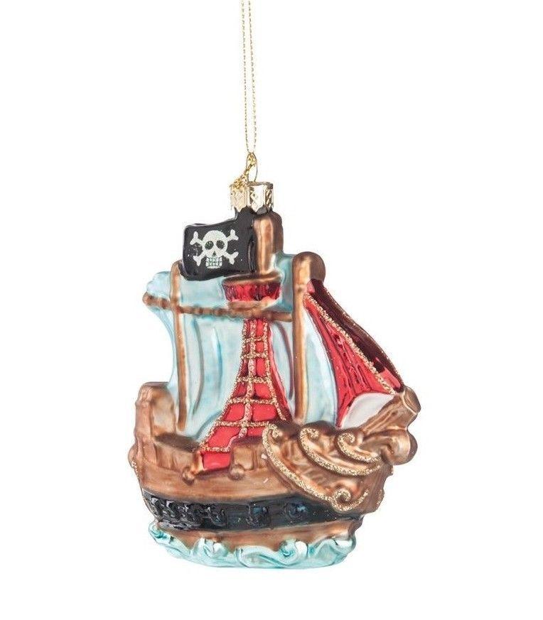 Gallerie ii pirate ship buccaneer glass halloween