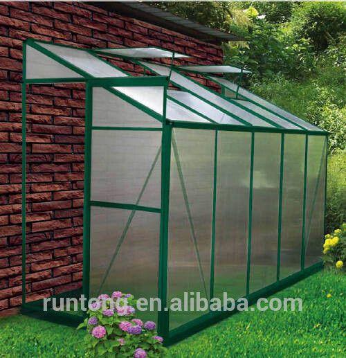Qingdao Runtong Lean To Greenhouse Mini Aluminium Garden Greenhouse Garden Flower Green House Photo Lean To Greenhouse Lean To Greenhouse Kits Greenhouse Plans